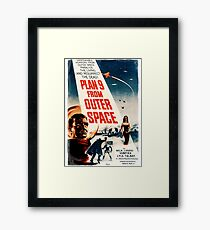 Plan Nine from Outer Space vintage Framed Print
