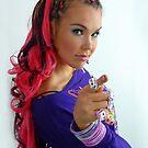 Long pink hair by KanaShow