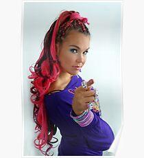 Long pink hair Poster