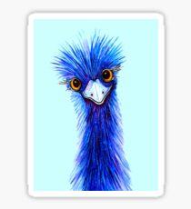 QUIRKY EMU  Glossy Sticker