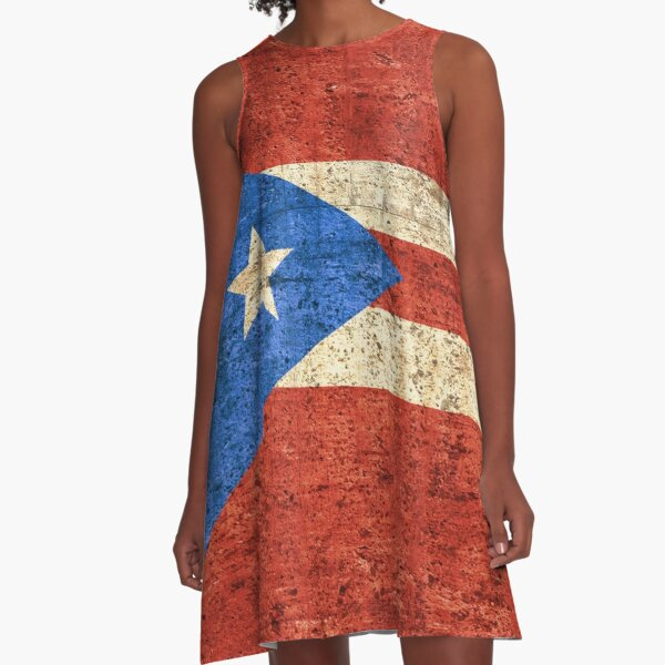 Flag of Puerto Rico,Patriotic Gift A-Line Dress