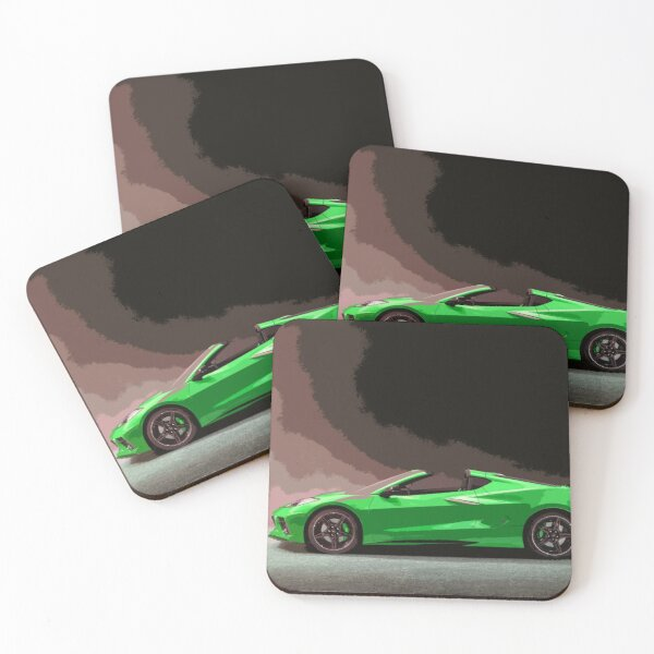 Chevrolet Corvette C8 Coasters (Set of 4)
