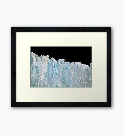 Glacial Elegance Framed Print