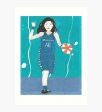 Atlantis Torrenstone playing basketball Art Print