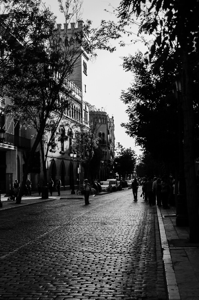 Streets of Seville, Spain  by Andrea Mazzocchetti