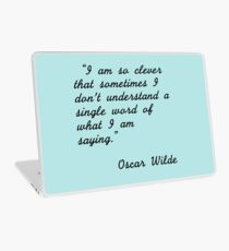 Oscar Wilde quotes Laptop Skin