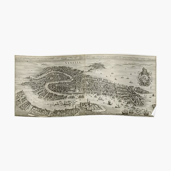 Venice-Vintage Map-1650 Poster