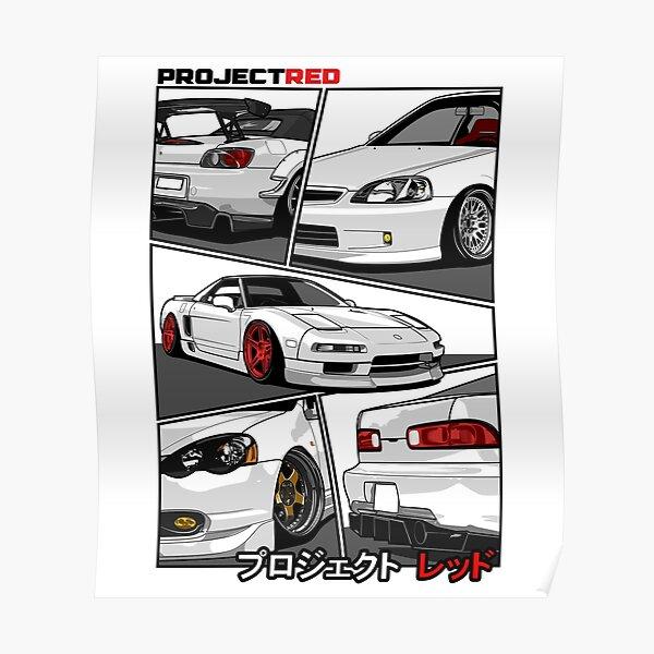 [R]aw Power Champion White Edition   s2k   Integra   Civic   Nsx Poster