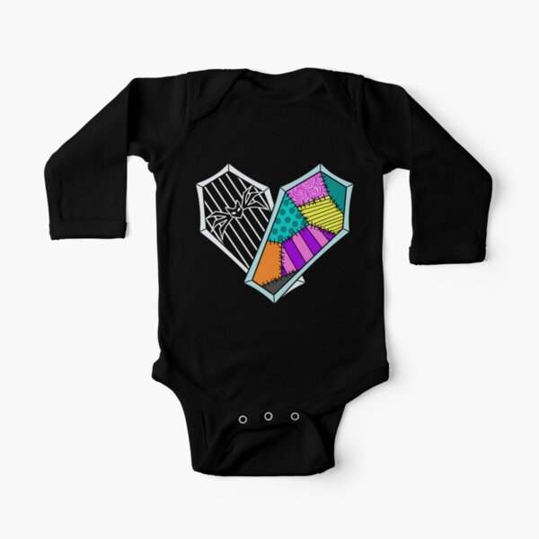 Coffin Heart Long Sleeve Baby One-Piece