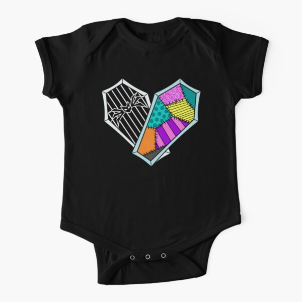 Coffin Heart Short Sleeve Baby One-Piece