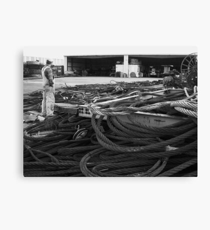 Where's that wire Canvas Print