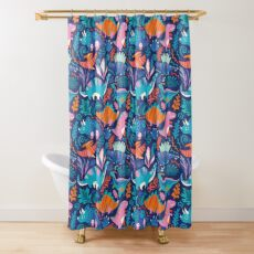 Dino team 1 Shower Curtain