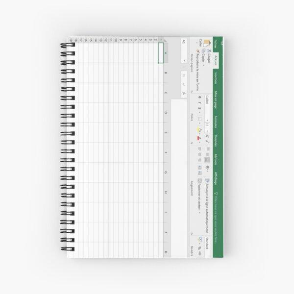 Excel spreadsheet Spiral Notebook