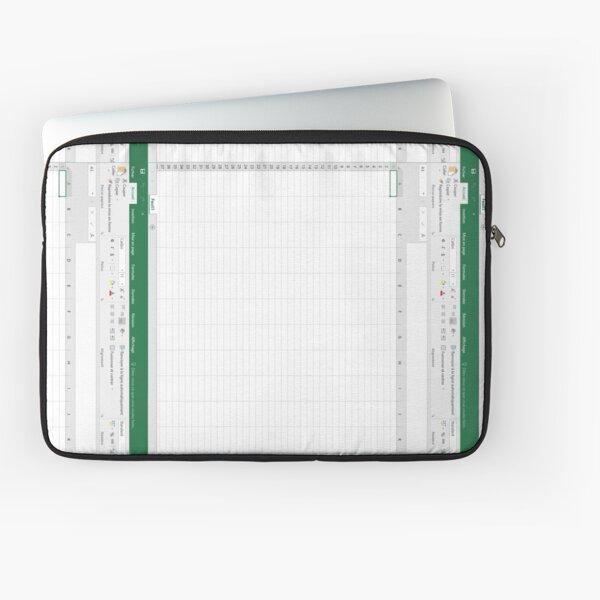 hoja de cálculo de Excel Funda para portátil