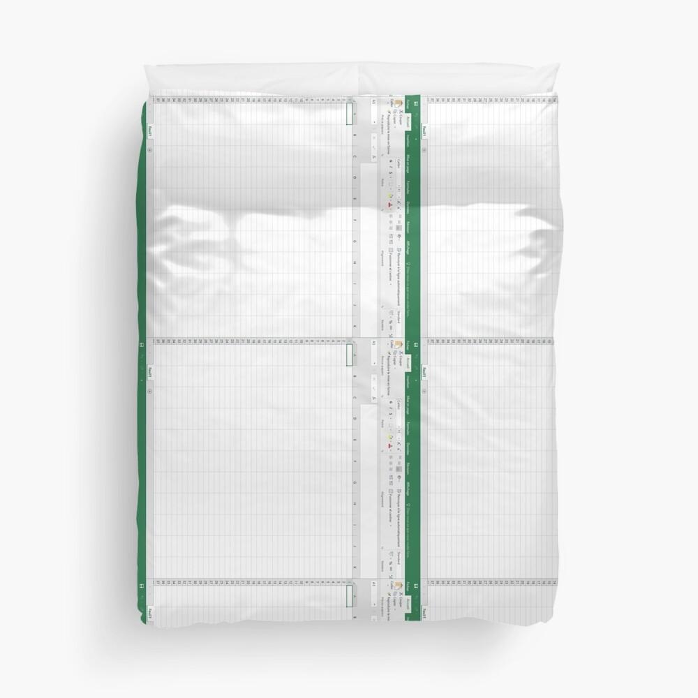 Excel spreadsheet Duvet Cover