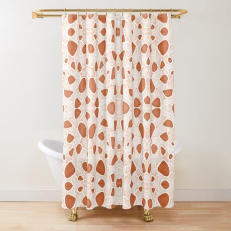 Moroccan Clay Zellige #redbubble #pattern Shower Curtain