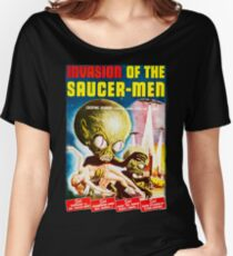 Invasion of the Saucer Men Vintage Women's Relaxed Fit T-Shirt