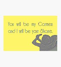 Shane & Carmen - Love - The L Word Photographic Print