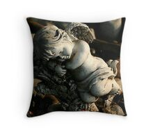 oh little cherub Throw Pillow