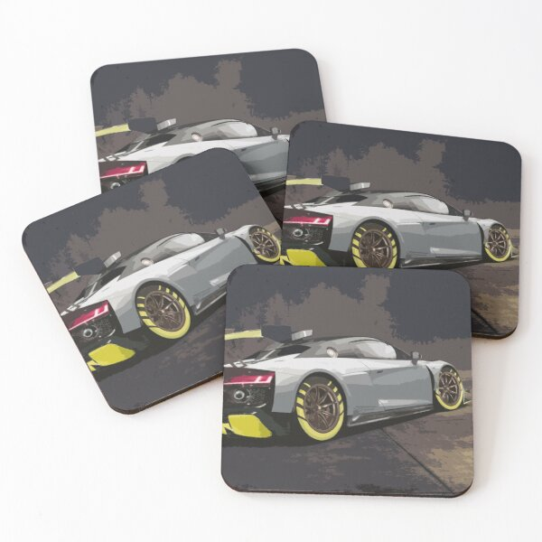 Audi R8 LMS GT2 Coasters (Set of 4)