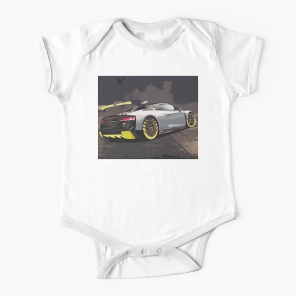 Audi R8 LMS GT2 Short Sleeve Baby One-Piece