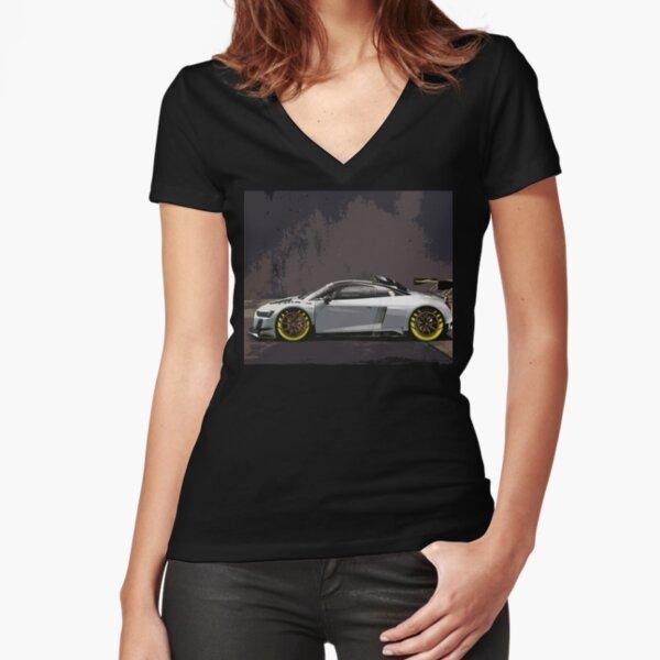 Audi R8 LMS GT2 Fitted V-Neck T-Shirt