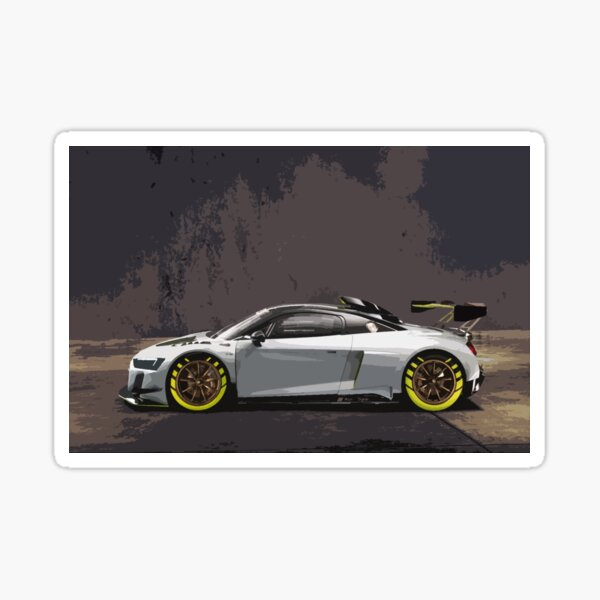 Audi R8 LMS GT2 Glossy Sticker