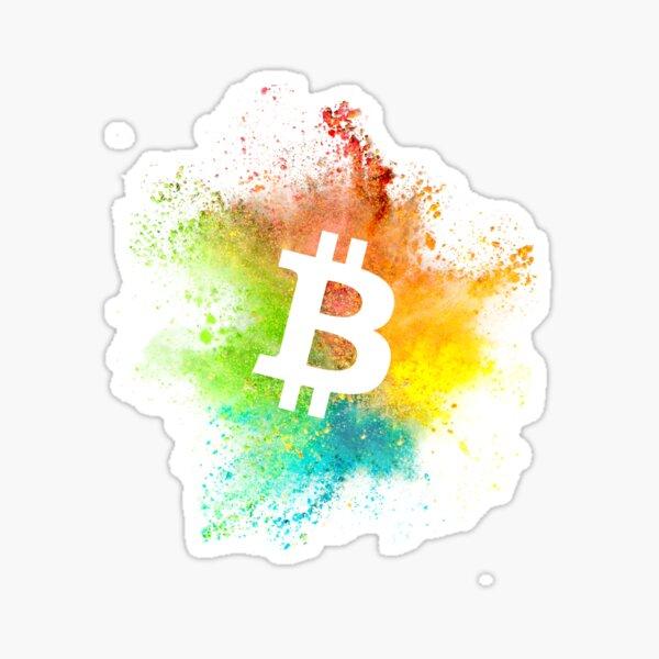 Bitcoin Logo Farbe Sticker