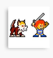 Thundercats 8bit Lion-O and Snarf no text Canvas Print