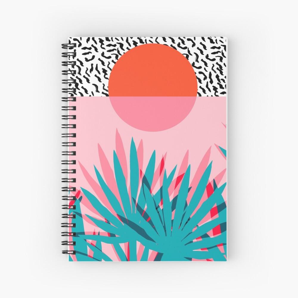 Whoa - palm sunrise southwest california palm beach sun city los angeles hawaii palm springs resort decor Spiral Notebook