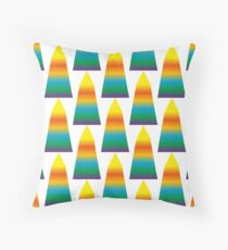 Geometric Piramid in the colors of the rainbow Floor Pillow