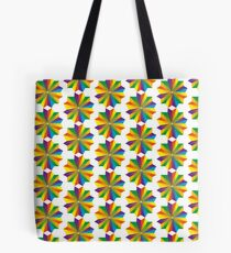 A geometric star design with the colors of the rainbow Tote Bag