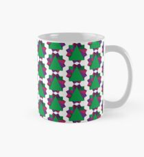 A geometric star design with the colors of the rainbow Classic Mug