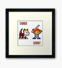 Thundercats 8bit Lion-O and Snarf Framed Print