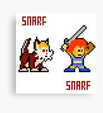 Thundercats 8bit Lion-O and Snarf Canvas Print