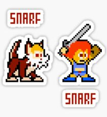 Thundercats 8bit Lion-O and Snarf Sticker