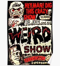 Dr. Jekyl and His Weird Show, Featuring Frankenstein Horror Vintage Poster
