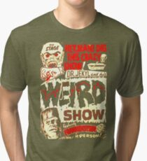 Dr. Jekyl and His Weird Show, Featuring Frankenstein Horror Vintage Tri-blend T-Shirt
