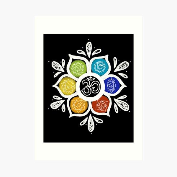 7 chakras Lámina artística