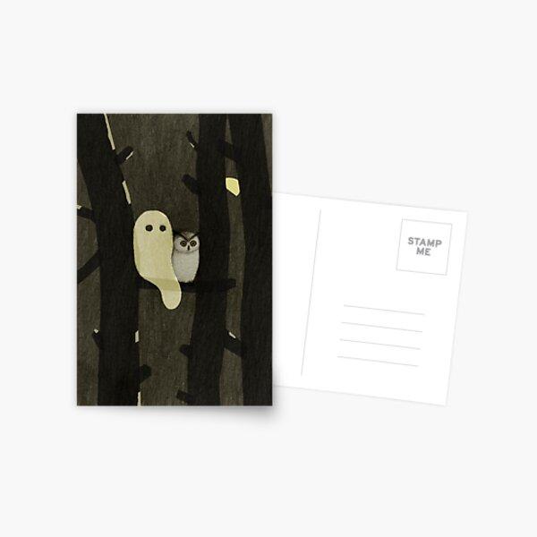 Little Ghost & Owl Postcard