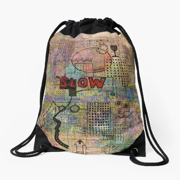 Slow 2 Drawstring Bag