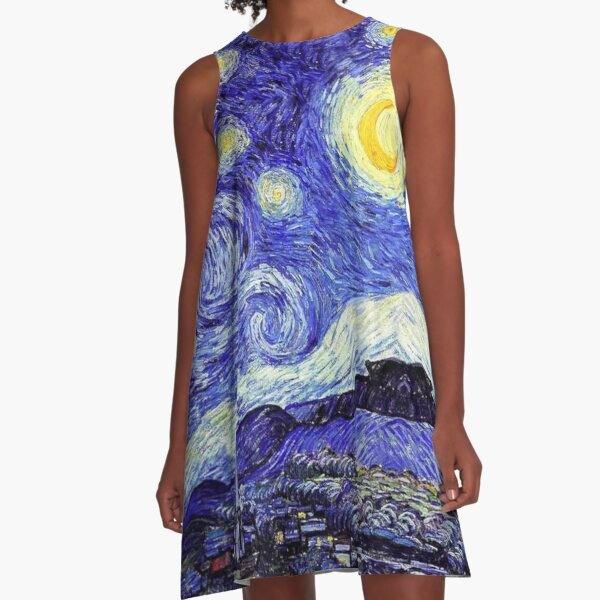 A Starry Night Inspiration Van Gogh Products A-Line Dress