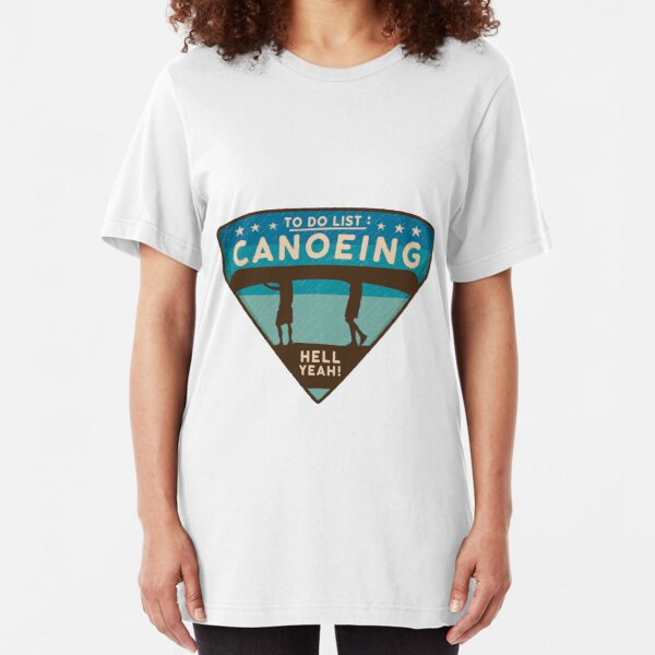 Canoeing Slim Fit T-Shirt