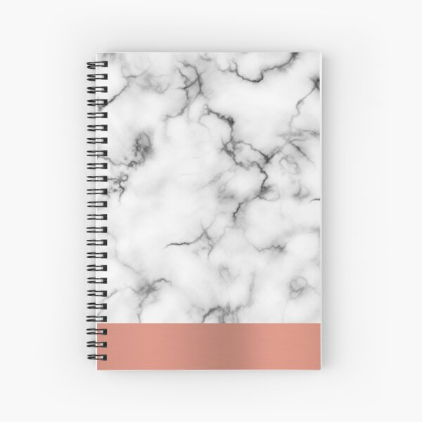 Marble & copper Spiral Notebook