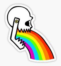 Rainbow Vomit Sticker