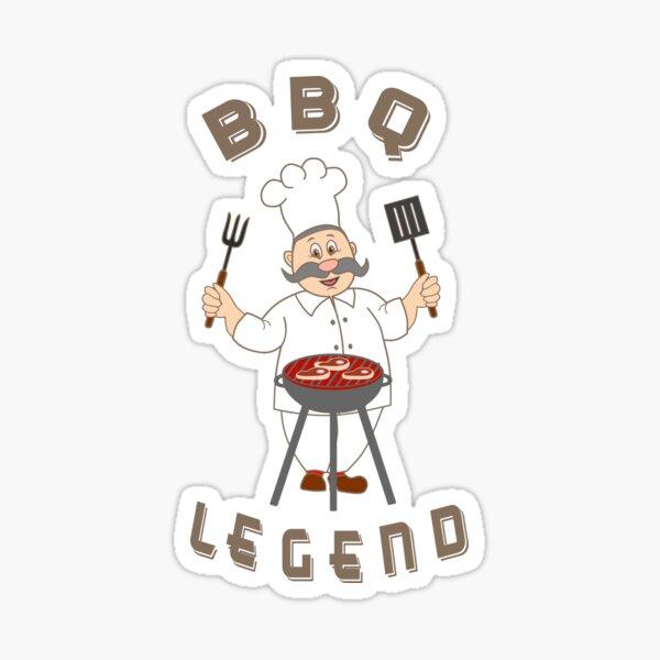 Opa Barbecue Legende Grandpa BBQ Legend Sticker