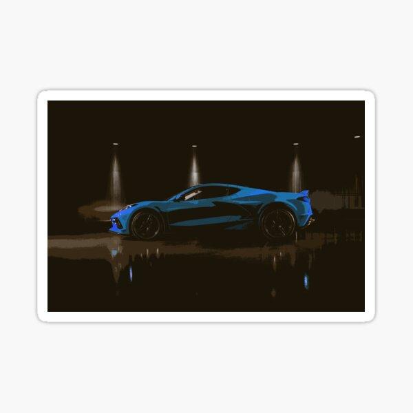 Chevrolet Corvette C8 Glossy Sticker