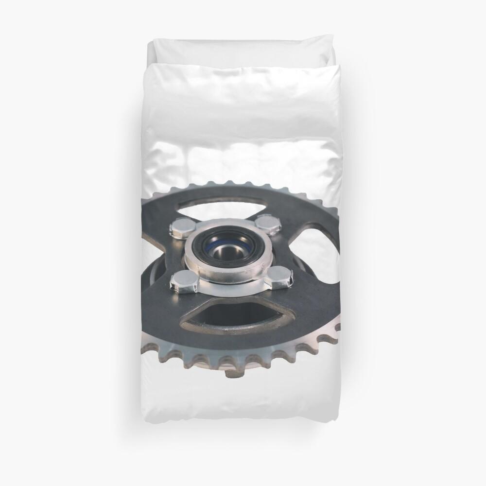 #Sprocket, #SprocketWheel, #Profiled, #Wheel, teeth,  cogs, mesh, chain, track, Duvet Cover