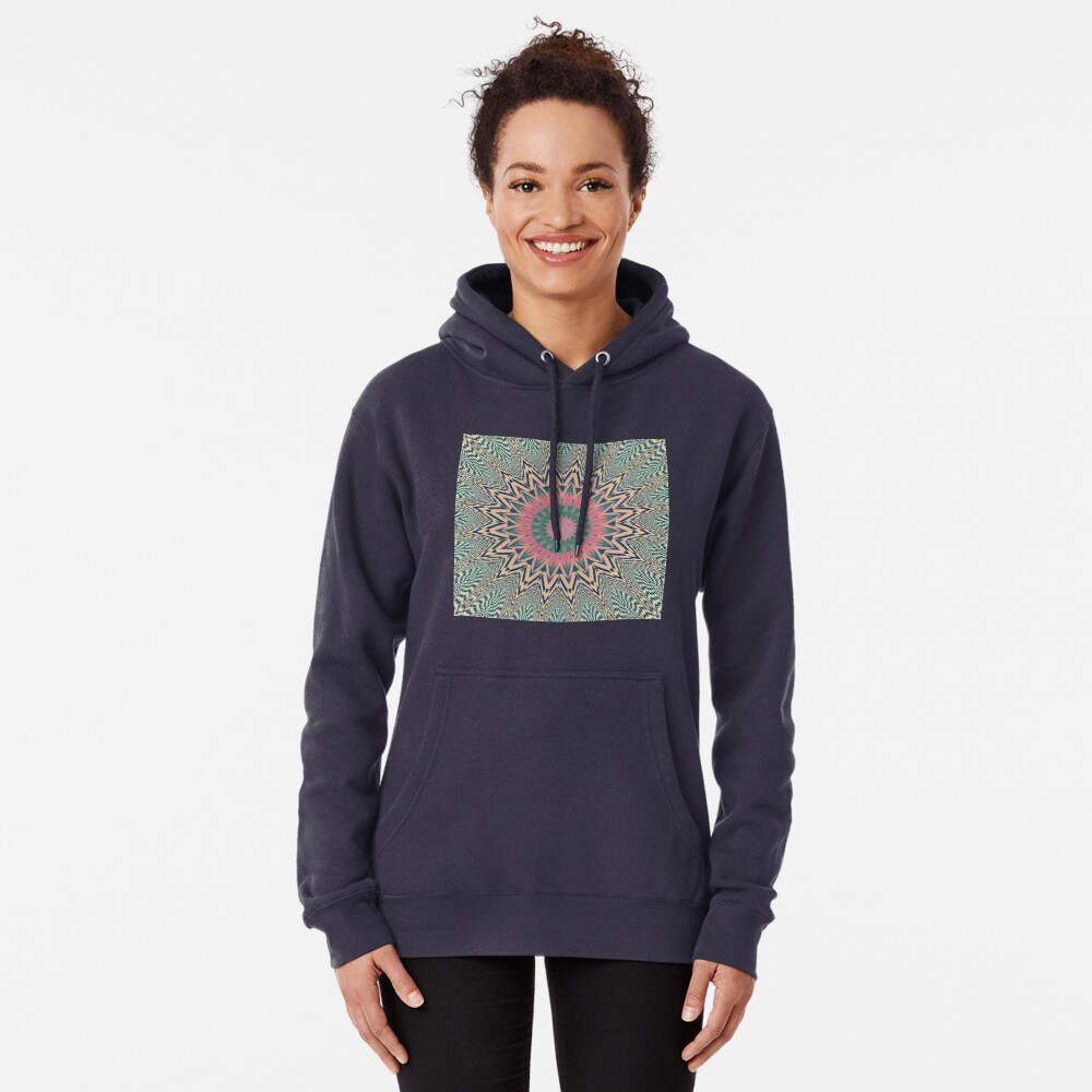 #Motif, #Visual, #Art, #Circle, 2D Shape, pattern, abstract, decoration, design, illustration, ornate Pullover Hoodie