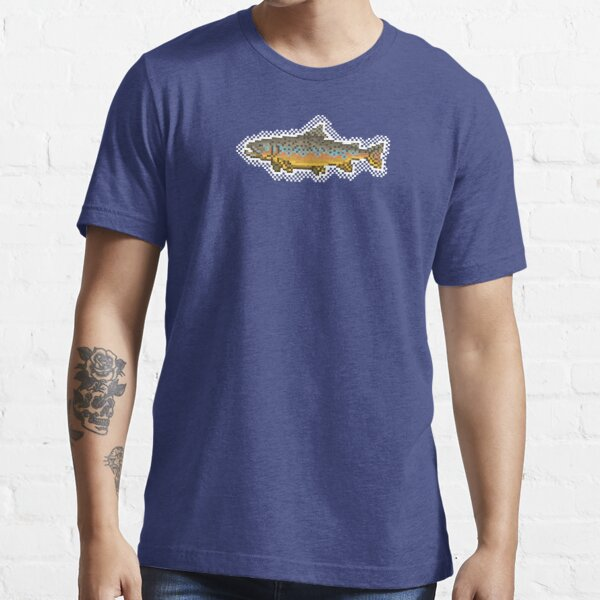Pixel Art Brown Trout Fishing Shirt Essential T-Shirt